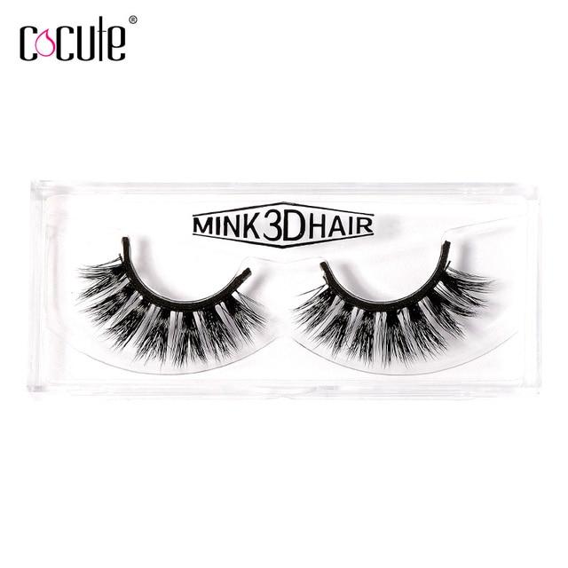 8a8c8792ab6 Cocute Professional 1pair 3D Mink Hair False Eyelashes Dramatic Thick Fake Eye  Lashes Makeup Tools Kit Y-26