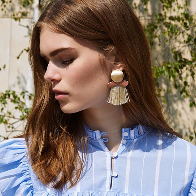 2018 Hot Sale Fashion Jewelry Statement Tassel Drop Earring For Women Bohemian F