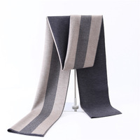 Winter warm scarf men wool Tassel double Fine stripe Scarves men winter new Fashion Cashmere Scarf for Men Shawls and wraps