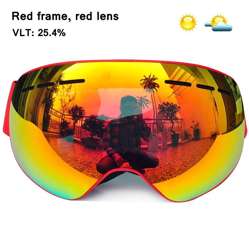 b46dce8b59a1 GOG-4100 Winter magnetic connection ski goggles UV400 anti-fog ski mask  snow glasses