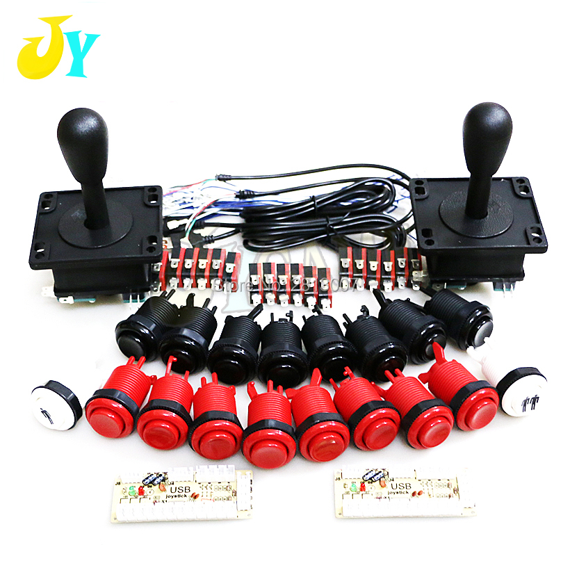 HOT DEAL) Arcade Happ Joystick Button DIY Kit For PC USB