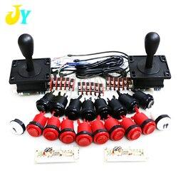 Jamma Arcade gabinete DIY Kit de cero retraso USB controlador Arcade para conexión de PC el estilo americano Joystick 4/8 forma de empujar botones
