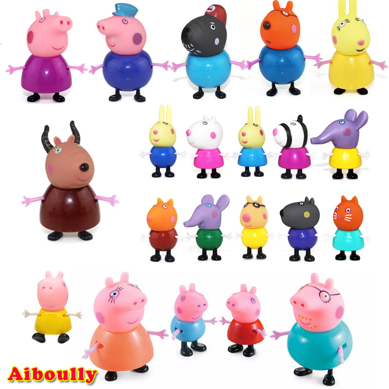 Aiboully full range peppaed pig Toys PVC Action Figur Toy Juguetes Baby Kid Birthday Gift brinque