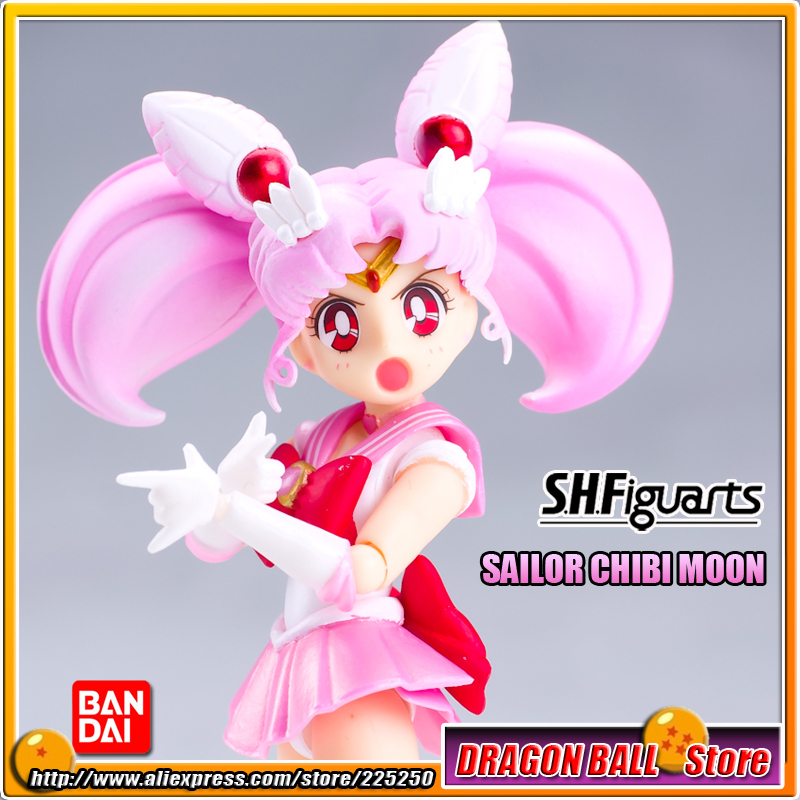 """Pretty Guardian Sailor Moon"" Original BANDAI Tamashii Nations SHF/ S.H.Figuarts <font><b>Action</b></font> <font><b>Figure</b></font> - Sailor Chibi Moon"