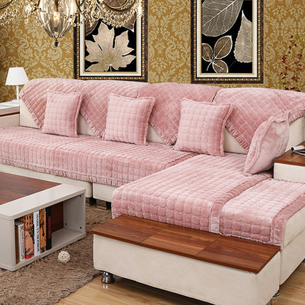Flannel Decorative Sofa Cover Sectional European Modern Slipcover ...
