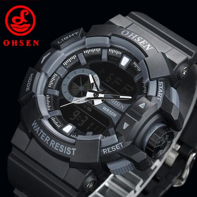 a1485f3a72c9 Impermeable Reloj Deportivo Relogio Masculino masculino Reloj Led Digital  Relojes de Caballero de Marca Militar Ocasional