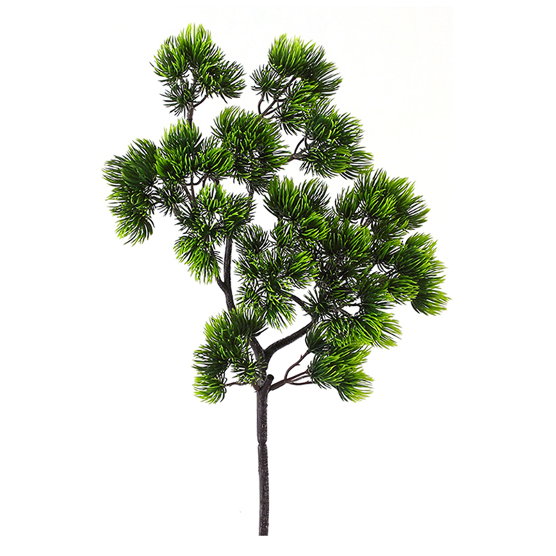 Christmas Leaf Name.Us 1 77 27 Off Pine Tree Branches Artificial Plastic Pinaster Cypress Fall Christmas Decorations Greenery Flower Arrangement Leaves Wreath Leaf In
