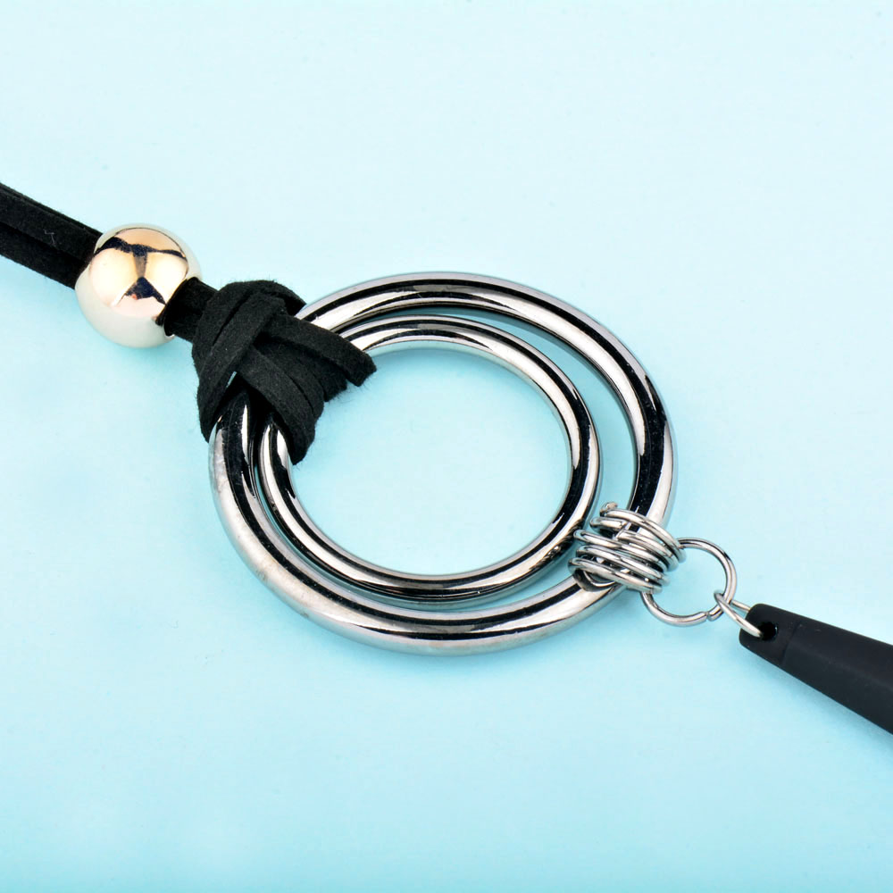 SINLEERY Vintage Gothic Black Suede Leather Long Rope Necklace para - Bisutería - foto 4