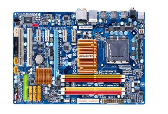 Envío gratis original placa madre de escritorio para gigabyte ga-ep43-ud3l ddr2 madre de escritorio lga 775 capacitores sólidos ep43-ud3l
