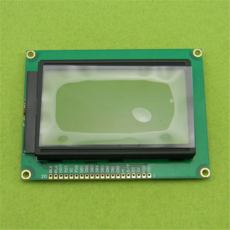 128*64 DOTS LCD Module 5V Yellow and Green Screen 12864 LCD with Backlight ST7920 Serial Port and Parallel port 0 96 inch yellow blue dual color oled display 12864 lcd screen module spi iic 3 3 5v interface