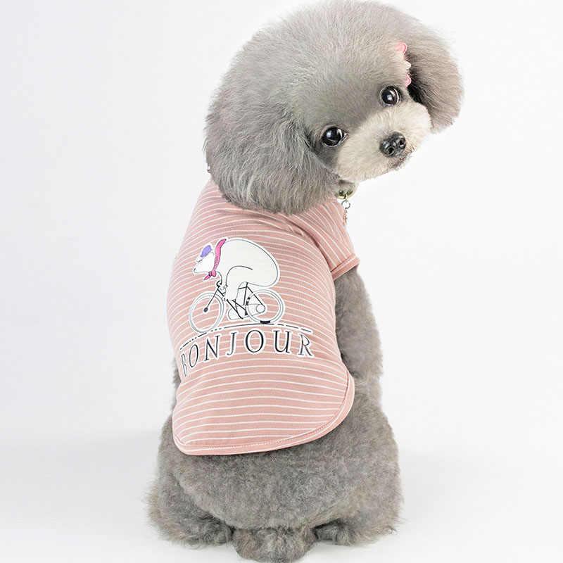 2019 летняя одежда для домашних животных мультяшная собака кошка жилет одежда повседневная печатная ПЭТ Китти рубашка для щенка хлопковая футболка для кошек S M L XL 2XL
