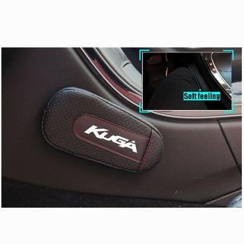 Высококачественная Кожаная подушка для ног, наколенник, Автомобильный Дверной коврик, аксессуары для салона автомобиля, для Ford Kuga