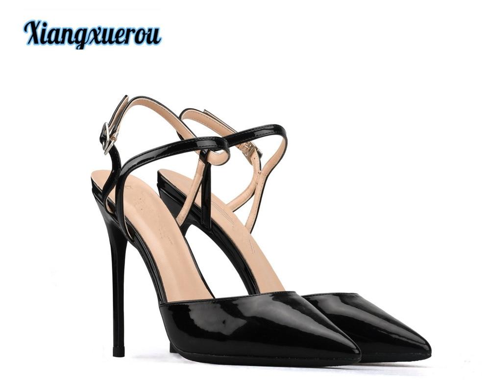 Xiangxuerou 2018 In de zomer van nieuwe mode is een gesp van één - Damesschoenen