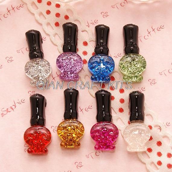 200pcs Kawaii Super Glitter Nail Polish Cabochon Assorted Set ...
