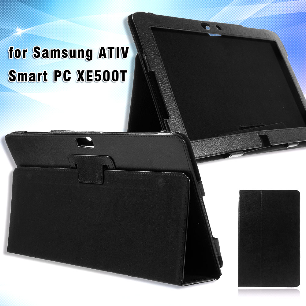 Litchi Skin Leather Stand Case Cover Bag for Samsung ATIV Smart PC XE500T
