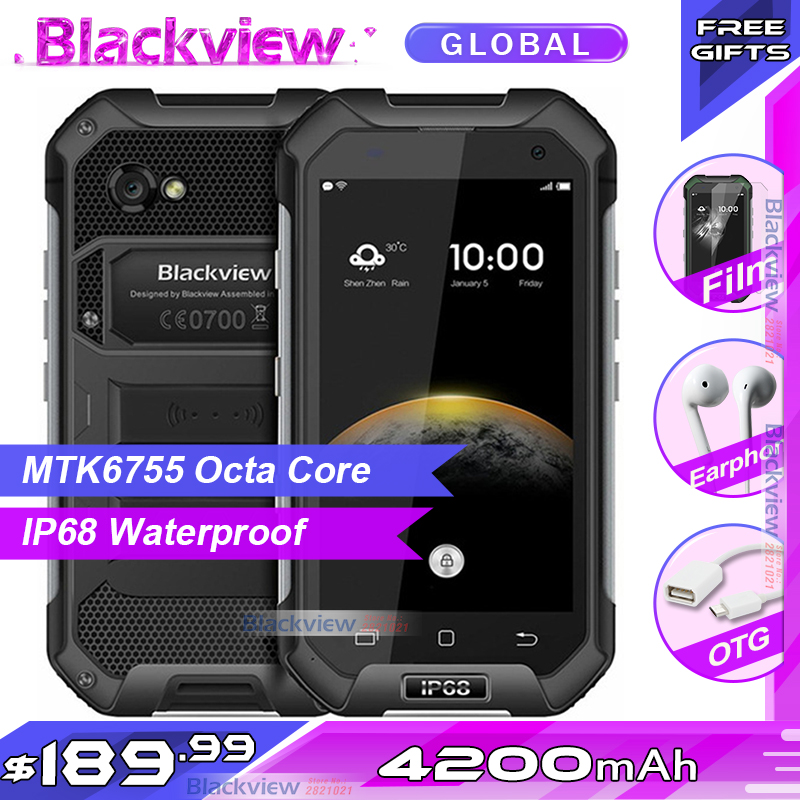 Official IP68 WaterProof Blackview BV6000 Mobile Phone 4G LTE Android 6 0 MTK6755 Octa Core 3GB