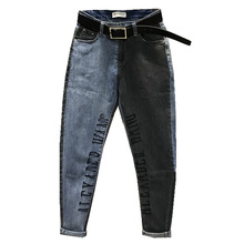 Jeans women 2020 spring new fashion hit colrt letters loose