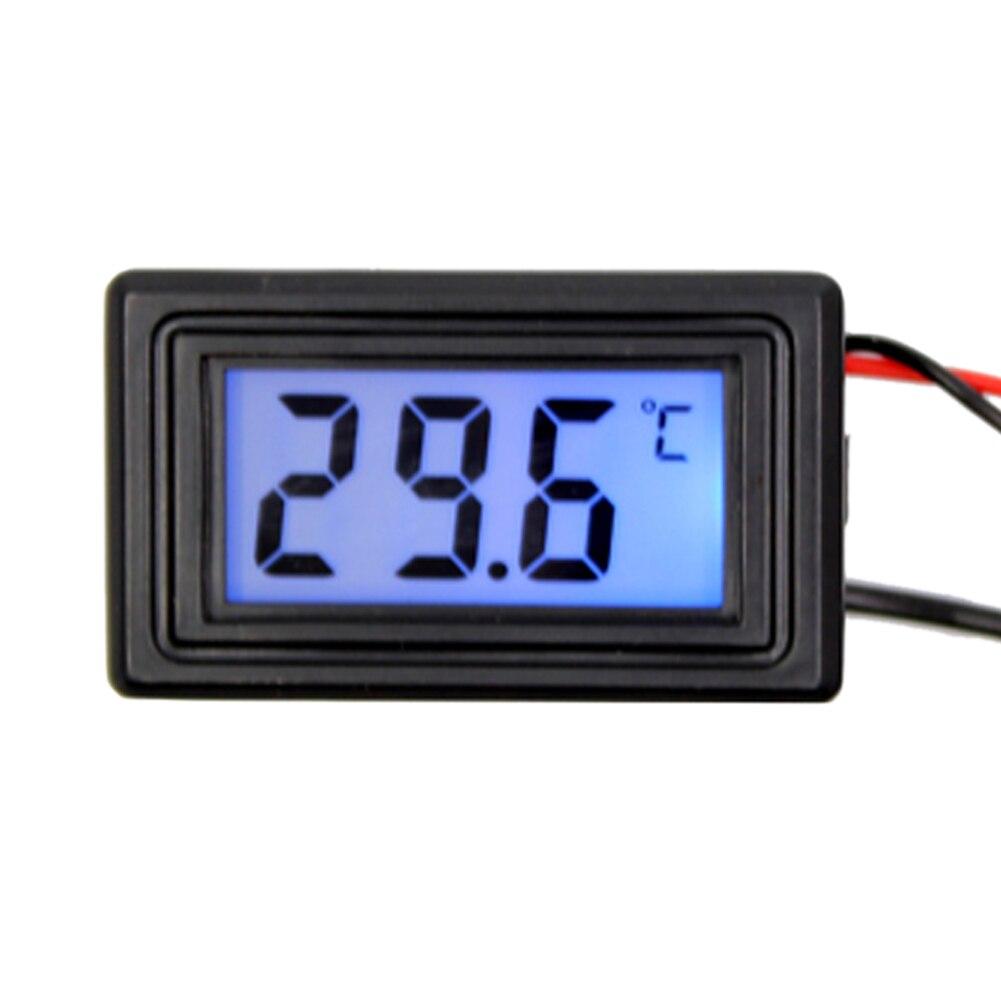 Nouveau numérique température mètre dc 4 v 25 v bleu numérique led affichage jauge thermomètre