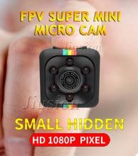 FPV Micro Cam HD1080P Completo SQ11 SQ8 Super Mini Câmera Noite Sensor de Movimento visão Grande Angular DV DVR Ação Esporte Filmadora Secreta