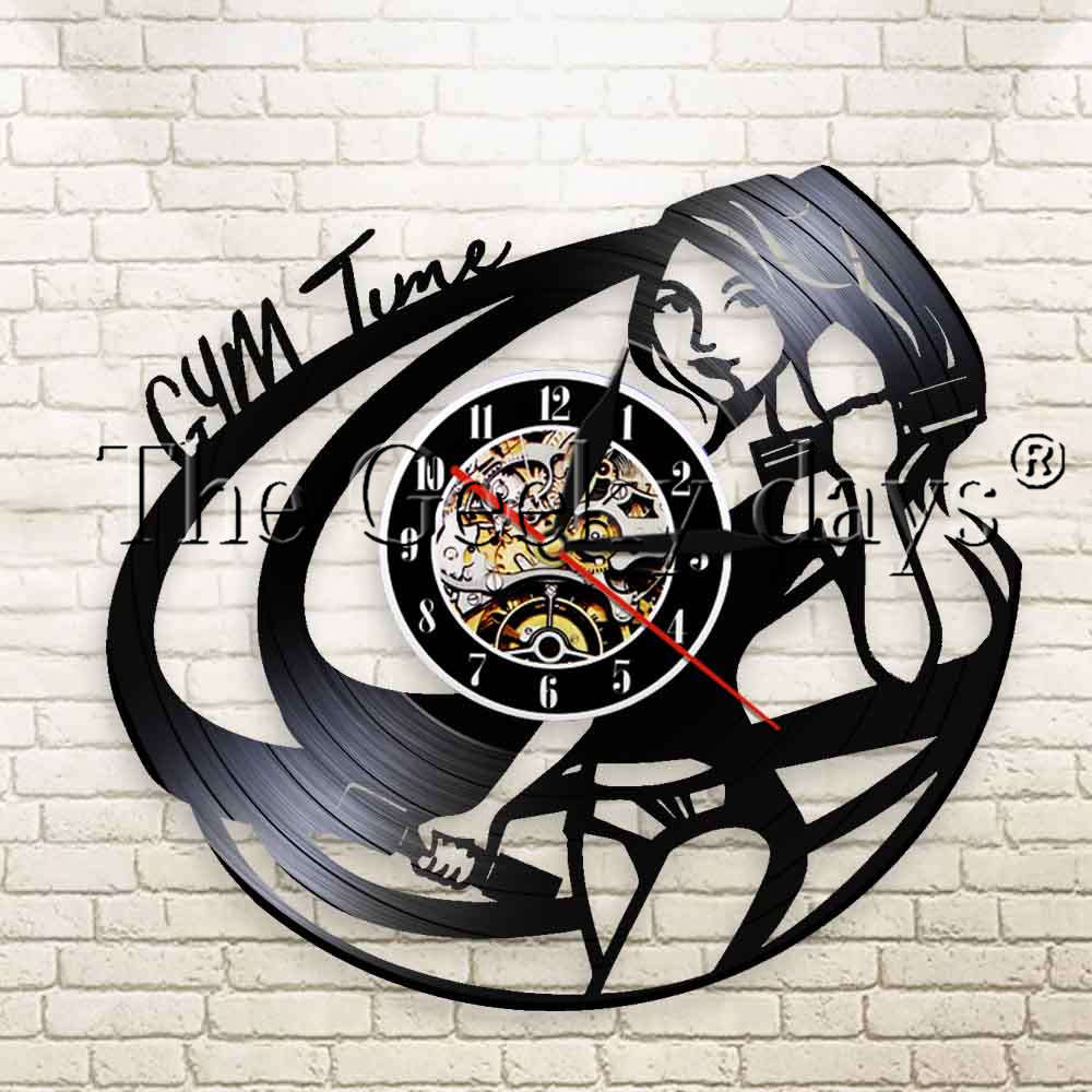 ELEPHANT Vinyle Horloge Murale Nature Sauvage Black Wall Art Home Decor Animaux Cadeau