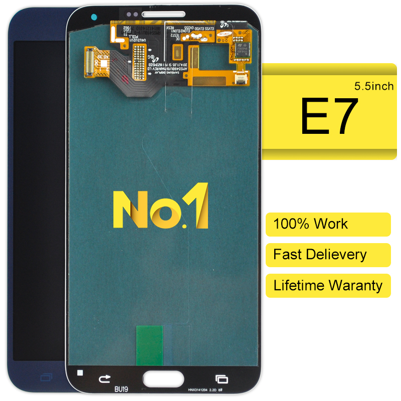 2pcs AAA E7 E7000 Sm-E700f Lcd Replacement Lcd display digitizer touch screen Assembly for Samsung  E7 E7000 Sm-E700f