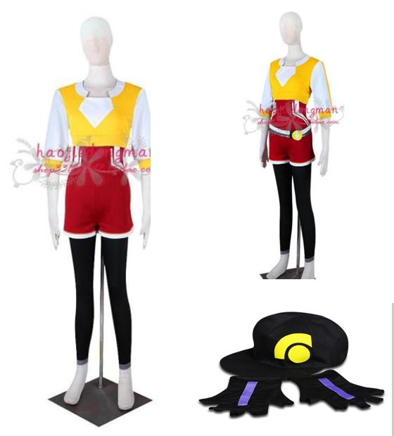 Pocket Monsters Game Pokemon Go female Trainer Avatar Cosplay Costume