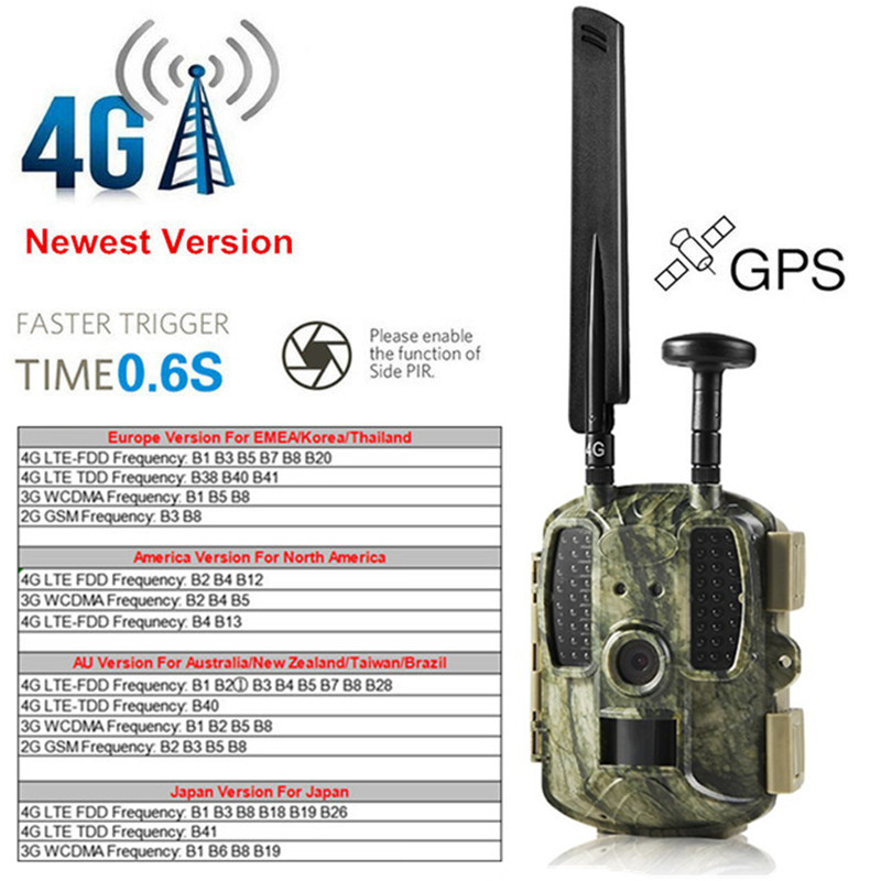 4G numérique infrarouge Vision nocturne sauvage jeu caméra Trail Hunter caméra 12MP 1080 P HD Scouting Guard WildKamera photo-pièges Foto