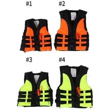 Детский спасательный жилет, детская Спасательная куртка для катания на лодках, катания на водных лыжах, одежда для купания со свистком для От 2 до 12 лет, детей