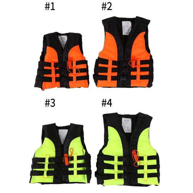 New Child Life Vest Kids Boating Drifting Water-skiing Safety Life Jacket Swimwear with Survival Whistle for 2-12 Years Children