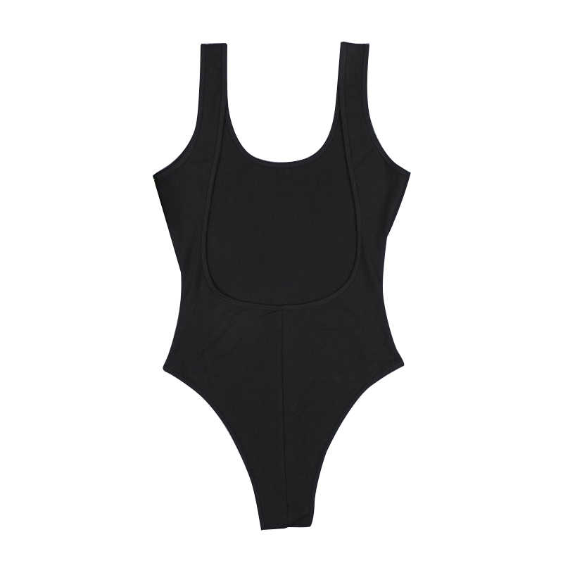 Sexy mujer sin espalda sin mangas Tank Top Club Jumpsuit verano playa sólido mono ropa AIC88