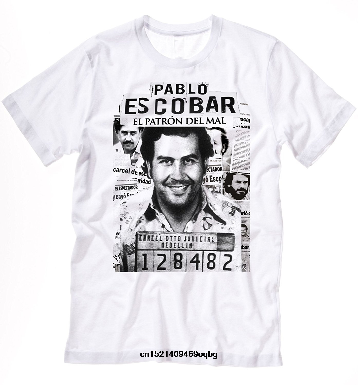 100% Cotone Manica Corta O-collo Magliette E Camicette Tee Camicette Pablo Escobar Medellin Cartello Colombia T-shirt El Patron