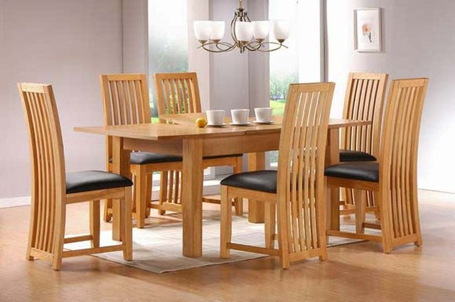dining table and chair sets adirondack cushions set dinner extension solid wood