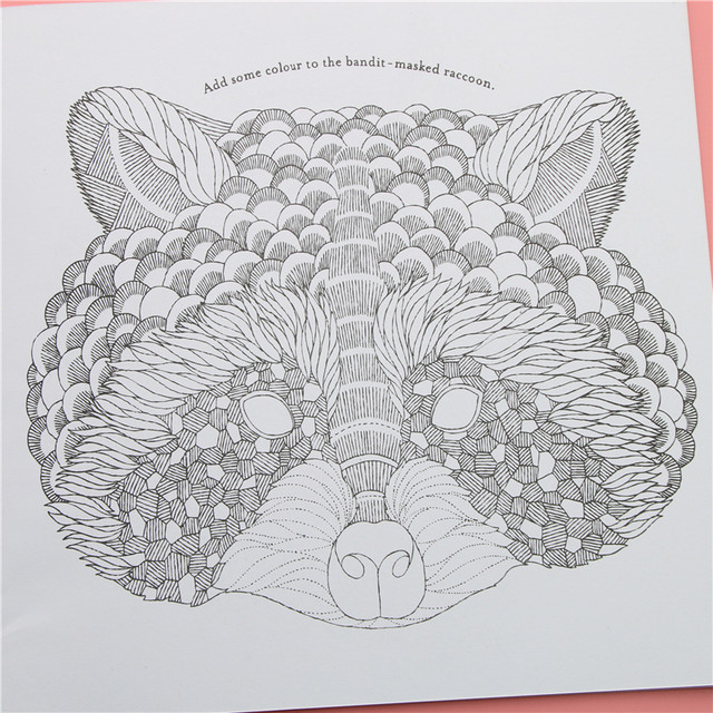 Online Shop Animal Kingdom Adult Coloring Books 24pages Drawing