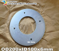N52 Super Large Ring Magnet OD 200xID 100x6 mm about 8 M4 holes NdFeB round Strong Neodymium Rare Earth Permanent Magnet