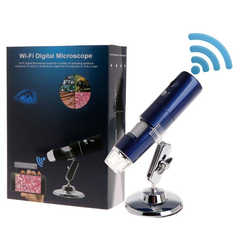HD 1080P WiFi Microscope 1000X Magnifier for Android iOS iPhone iPad Windows MAC Free Ship|Microscopes| |  - title=