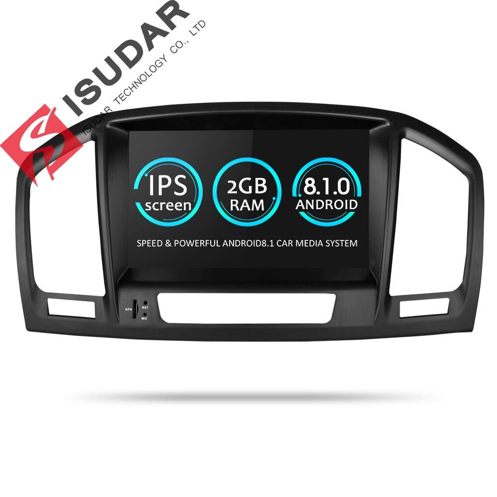 Isudar Car Multimedia Player GPS Dois Din Android 8.1 DVD Automotivo Para Opel/Vauxhall/Insignia CD300 CD400 2009 -2012 Rádio FM AM