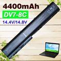 4400 mah bateria para hp pavilion dv7 dv8 hstnn-db74 hstnn-db75 hstnn-ib74 hstnn-ib75 hstnn-ob75 hstnn-xb75