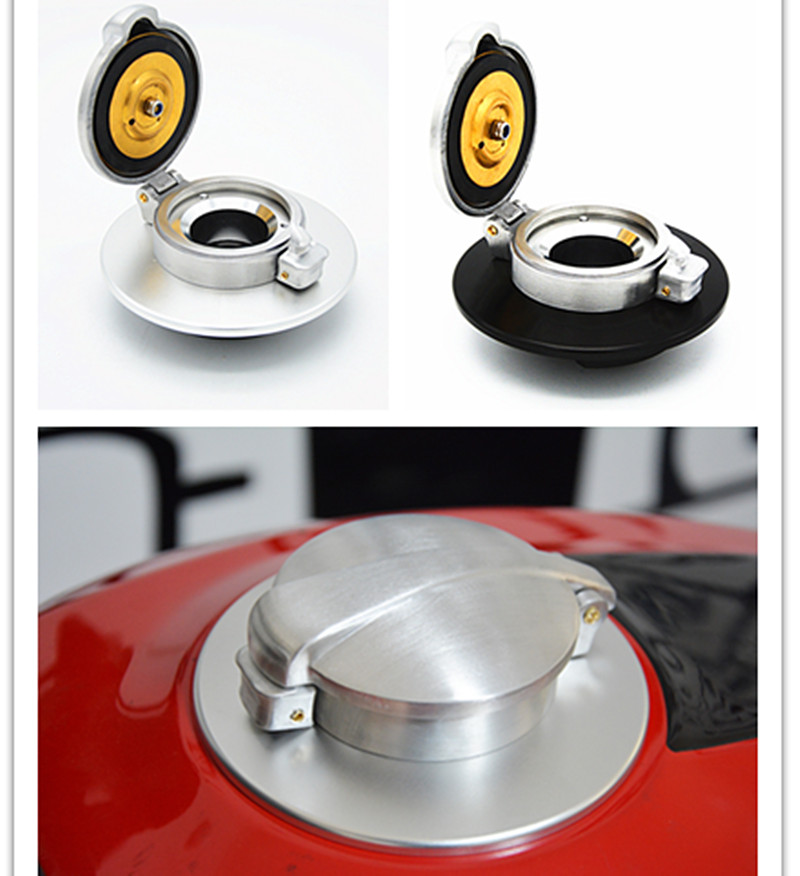 Motorcycle Rafe Racer Fuel Gas Cap Petrol Tank cover Aluminum For Ducati Scrambler gas fuel cap