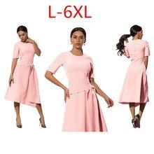 Olhos L-6XL Plus Size 2018 Mulheres Verão Moda Sexy Casual Vestidos Senhora Do Escritório Vestidos de Festa Elegante