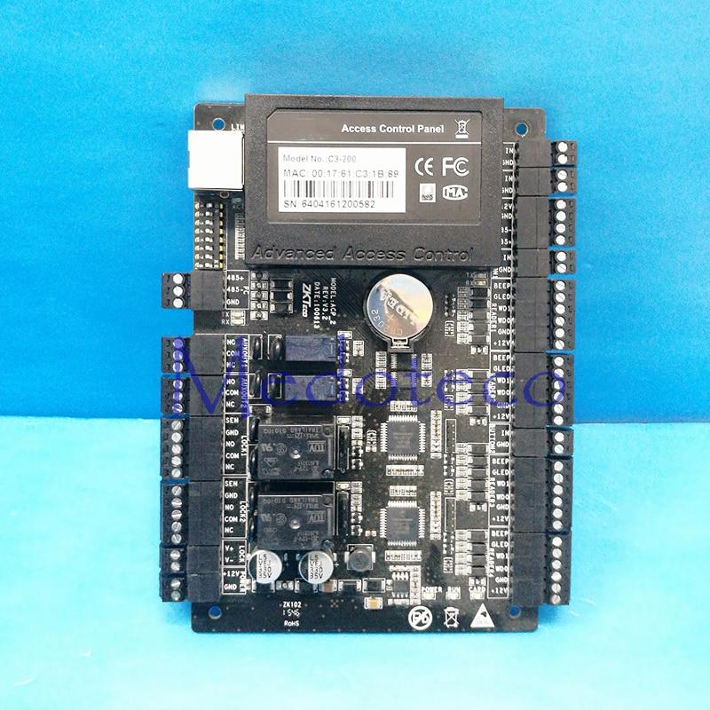 2 PCS Tcp/ip Network Access Control C3-200 Intelligent Two-door Two-Way Door Access Control Panel for Two Door Control