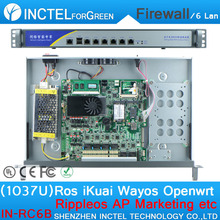 1037U Multi Gigabit Intel PCI E 1000M 6 82574L Network Port Firewall Barebone with Enterprise class