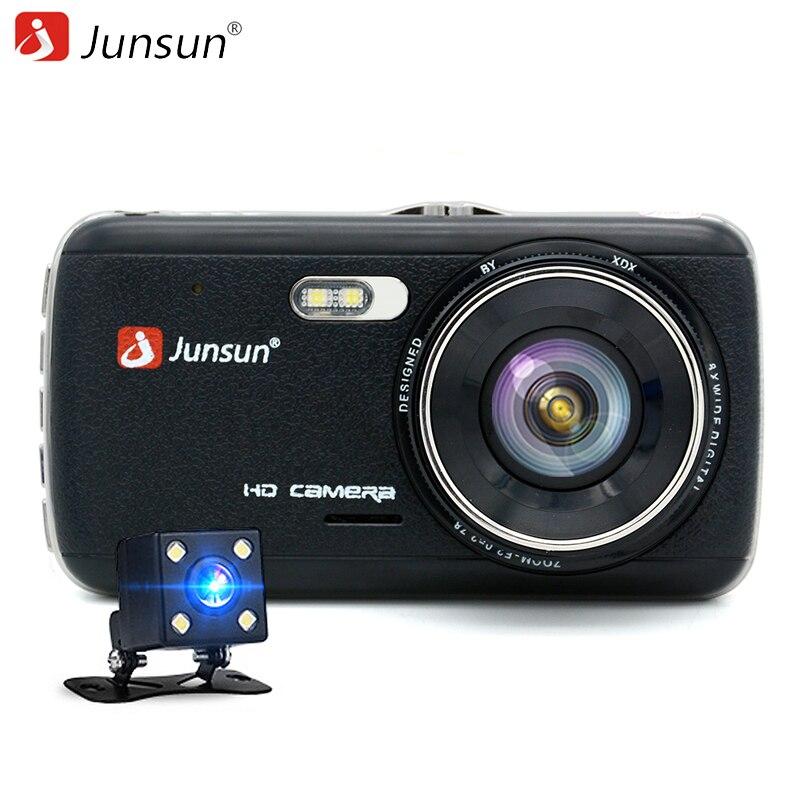 Junsun Двухканальный автомобильный видеорегистратор 1080P 4 дюймовый  экран с LDWS