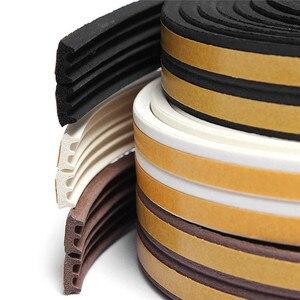 5M E Type Foam Draught Excluder Self Adhesive Window Door Seal Strip For Door Accessories