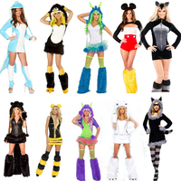 Animal Female Halloween Clothes Christmas Installation Cos Game Service Bar Service