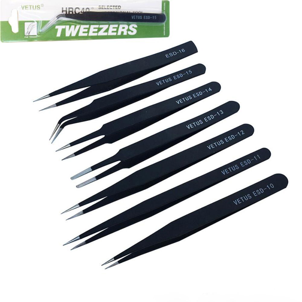 1PC Pointed Tweezer Curved Tips Tweezers For Electronic Cigarette Vape Cotton RDA RBA RTA RDTA Atomizer Heating Wire DIY Tool