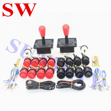 Arcade mame DIY KIT FOR 2 players PC USB to arcade joystck LED button interface 2 player MAME Interface USB to Jamma