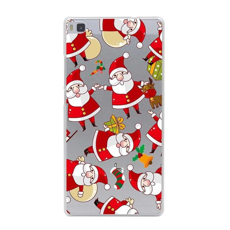 سانتا كلوز حافظة لهاتف Huawei زميله 10 لايت غطاء لينة سيليكون عيد الميلاد لهواوي P الذكية P9 لايت البسيطة P10 P20 P 20 لايت حالة