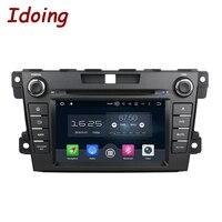 2Din Idoing Kierownicy Android 8.0 Fit Mazda CX7 CX 7 samochodowy Odtwarzacz DVD 8 Rdzeń 2G + 32G Dotykowy ekran Nawigacji GPS WiFi OBD2