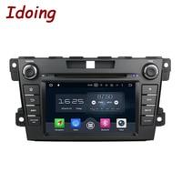 Idoing 2Din Direksiyon Android6.0/7.1 Fit Mazda CX7 CX 7 araba DVD Oynatıcı 8 Çekirdek 2G + 32G GPS Navigasyon Dokunmatik Ekran WiFi OBD2