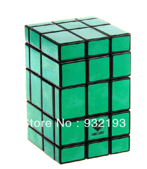 Ct Green 3x5 Mirror Magic Cube Puzzle Spring Sd Twist Rare Toy